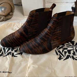 Isabel Marant Authentic Calf Hair Ankle Boots